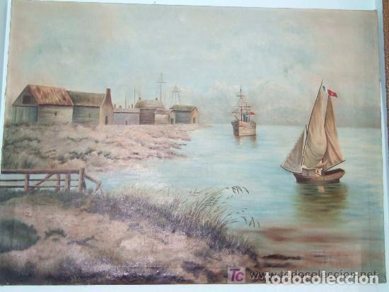 MARINA OLEO SOBRE TELA - TAMAÑO GRANDE (Arte - Pintura - Pintura al Óleo Moderna siglo XIX)