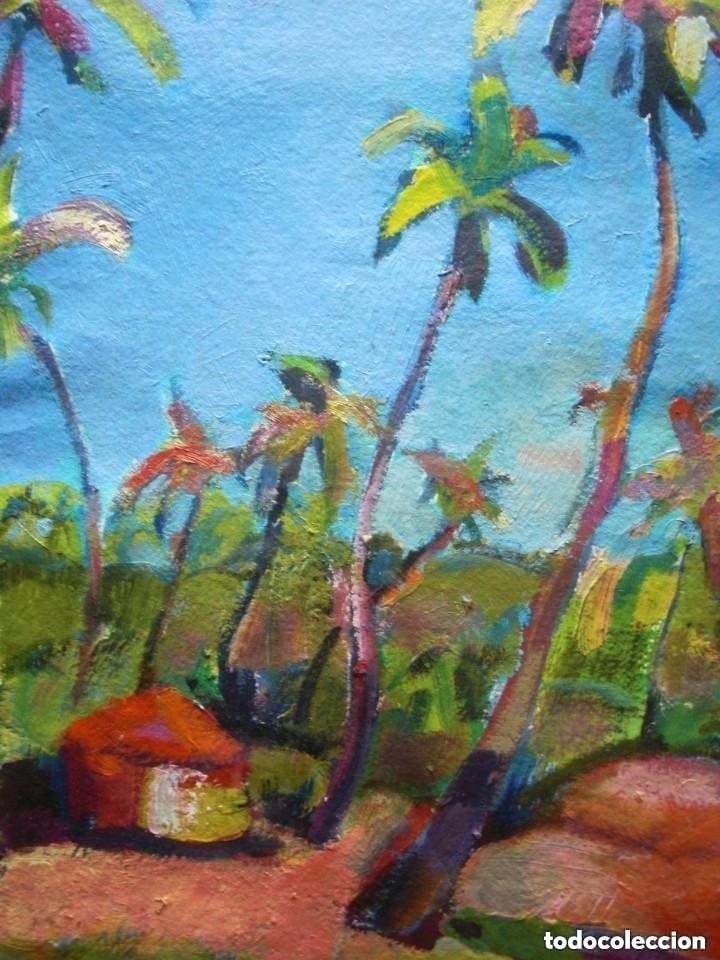 Arte: JORDI SANTACANA óleo/papel ecológico 75 x 55 cm. Paisaje de Goa (India). Firmado y fechado. - Foto 2 - 142593706