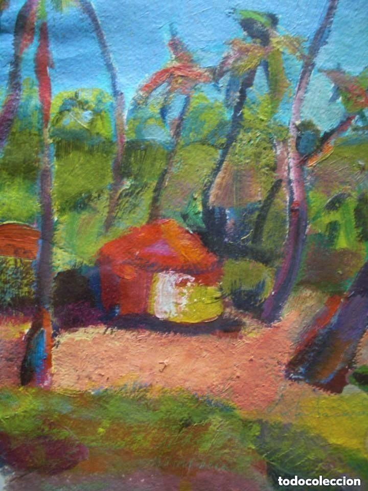 Arte: JORDI SANTACANA óleo/papel ecológico 75 x 55 cm. Paisaje de Goa (India). Firmado y fechado. - Foto 3 - 142593706