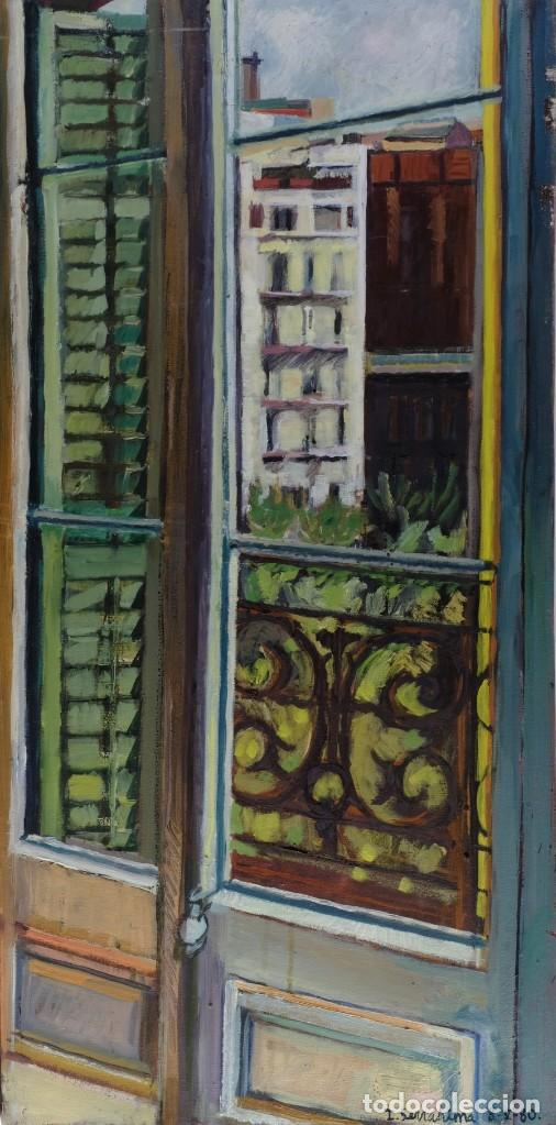 ISABEL SERRAHIMA ÓLEO SOBRE LIENZO VISTA VENTANA FIRMADO Y FECHADO 1980 (Arte - Pintura - Pintura al Óleo Contemporánea )