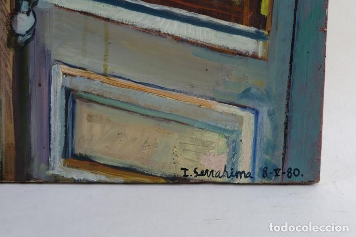 Arte: Isabel Serrahima Óleo sobre lienzo Vista ventana Firmado y fechado 1980 - Foto 8 - 142607278