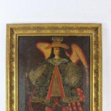 Kunst: ANGEL ARCABUCERO. PINTURA CUZQUEÑA S XVIII. Lote 142662862