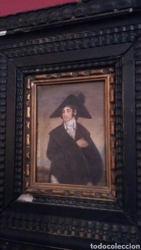 PAREJA DE COBRES DEL SIGLO XVIII CON MARCOS FLAMENCOS (Arte - Pintura - Pintura al Óleo Antigua siglo XVIII)