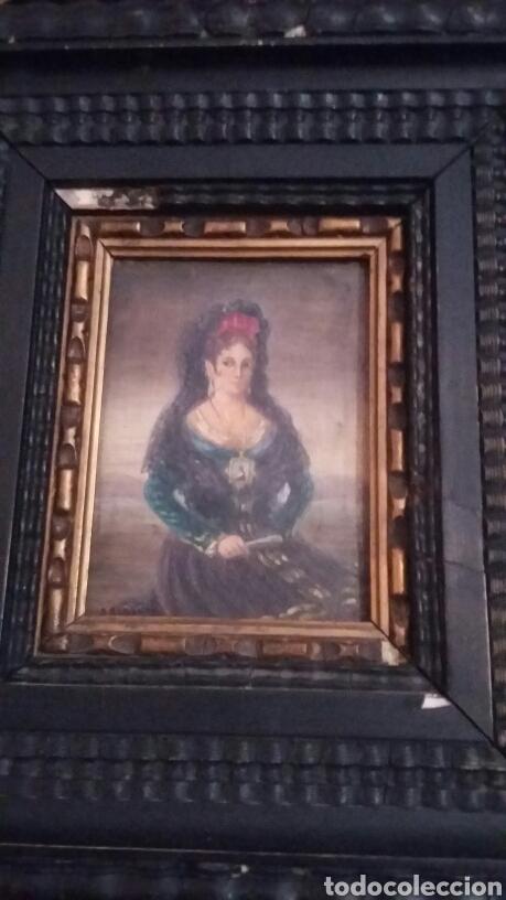 Arte: Pareja de cobres del siglo XVIII con marcos flamencos - Foto 2 - 142687418