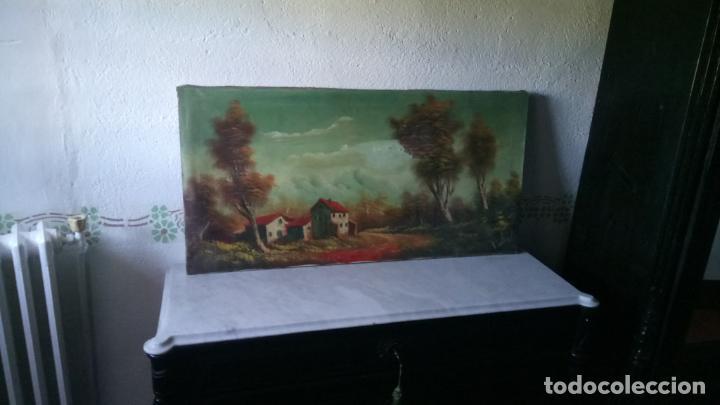 ANTIGUO CUADRO AL OLEO DE PAISAJE DE AUTOR ANONIMO (Arte - Pintura - Pintura al Óleo Antigua sin fecha definida)