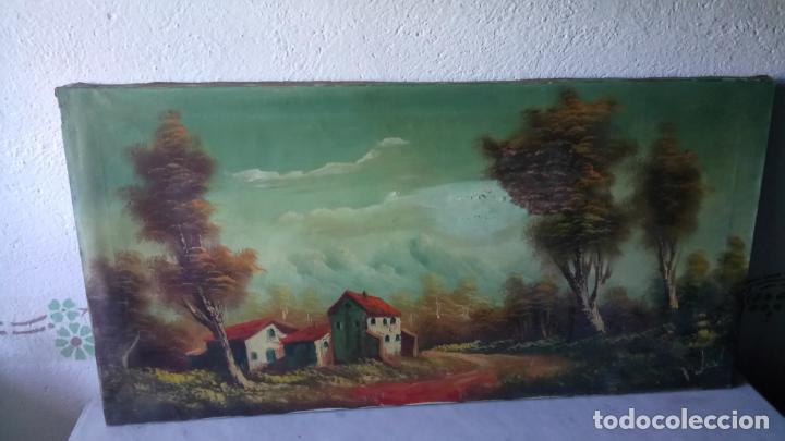 Arte: Antiguo cuadro al oleo de paisaje de autor anonimo - Foto 2 - 142762730