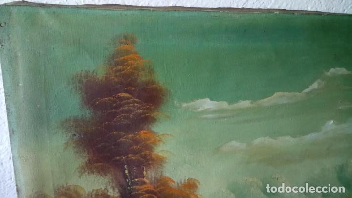 Arte: Antiguo cuadro al oleo de paisaje de autor anonimo - Foto 3 - 142762730