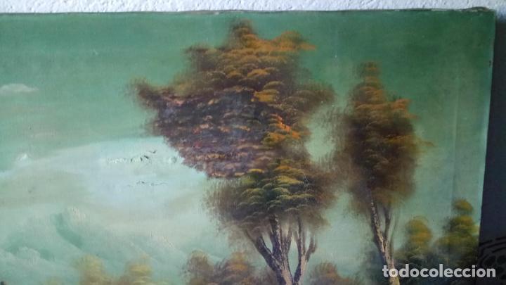 Arte: Antiguo cuadro al oleo de paisaje de autor anonimo - Foto 4 - 142762730