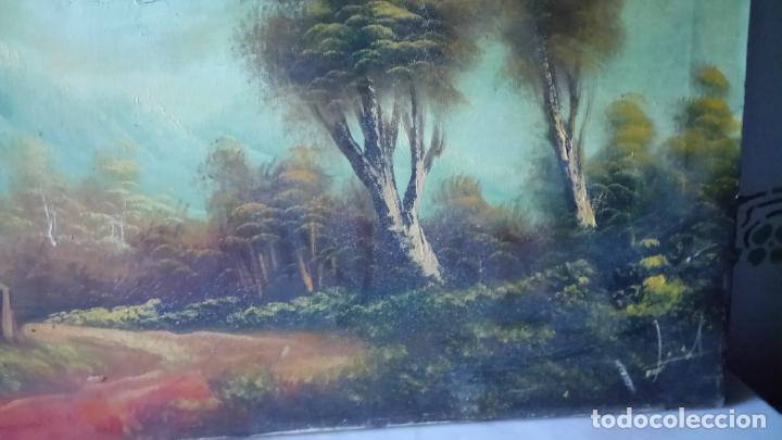 Arte: Antiguo cuadro al oleo de paisaje de autor anonimo - Foto 5 - 142762730