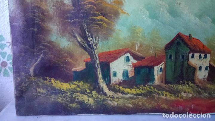 Arte: Antiguo cuadro al oleo de paisaje de autor anonimo - Foto 6 - 142762730