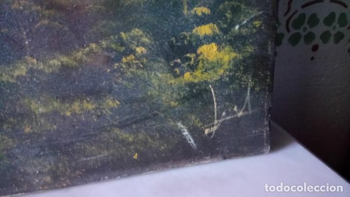 Arte: Antiguo cuadro al oleo de paisaje de autor anonimo - Foto 7 - 142762730