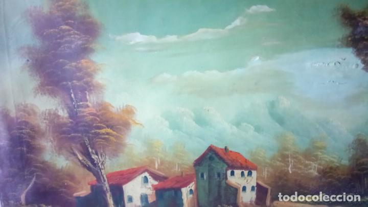 Arte: Antiguo cuadro al oleo de paisaje de autor anonimo - Foto 8 - 142762730