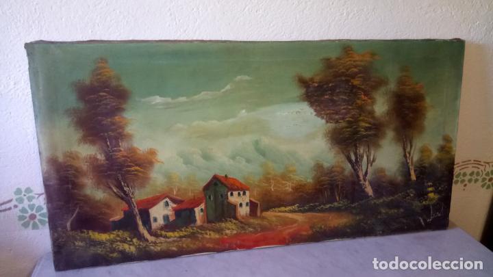 Arte: Antiguo cuadro al oleo de paisaje de autor anonimo - Foto 9 - 142762730