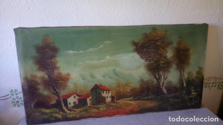 Arte: Antiguo cuadro al oleo de paisaje de autor anonimo - Foto 10 - 142762730