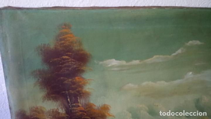 Arte: Antiguo cuadro al oleo de paisaje de autor anonimo - Foto 11 - 142762730