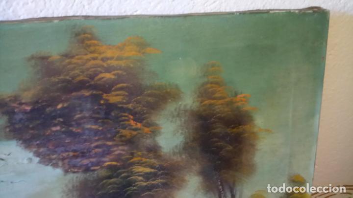 Arte: Antiguo cuadro al oleo de paisaje de autor anonimo - Foto 12 - 142762730