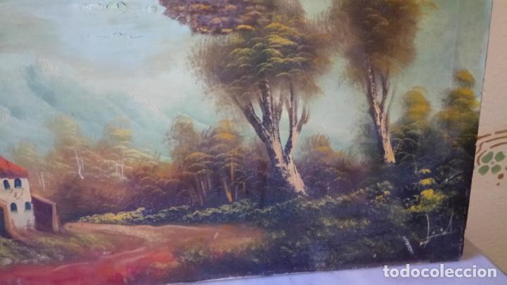 Arte: Antiguo cuadro al oleo de paisaje de autor anonimo - Foto 13 - 142762730