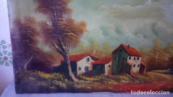 Arte: Antiguo cuadro al oleo de paisaje de autor anonimo - Foto 14 - 142762730