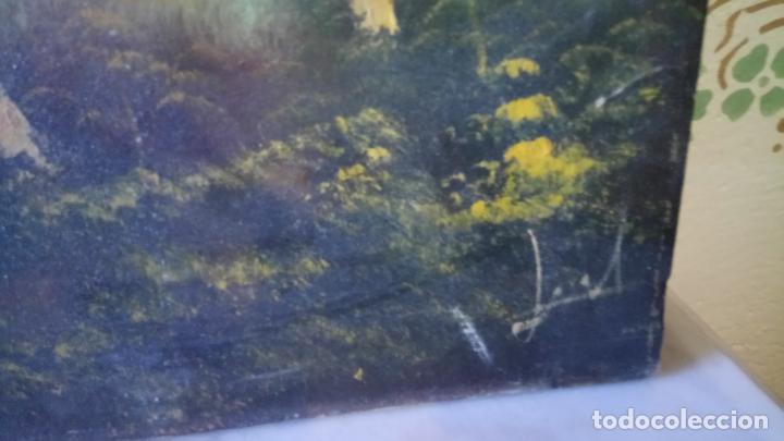 Arte: Antiguo cuadro al oleo de paisaje de autor anonimo - Foto 15 - 142762730