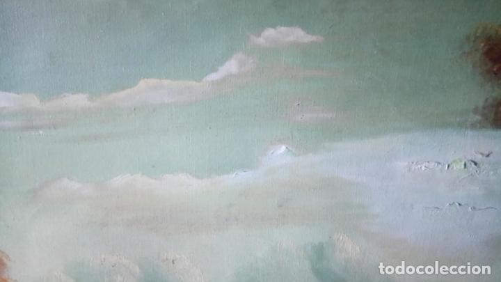 Arte: Antiguo cuadro al oleo de paisaje de autor anonimo - Foto 16 - 142762730