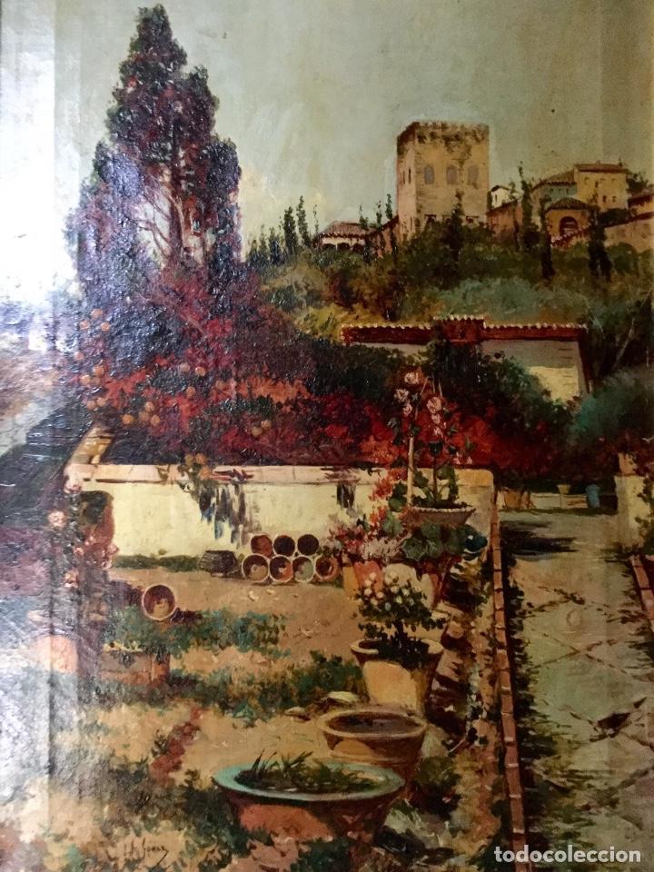 Arte: ANTONIO GOMAR Y GOMAR (1853-1911)Óleo de temática paisajística con escena del Albaicín - Foto 6 - 142776110