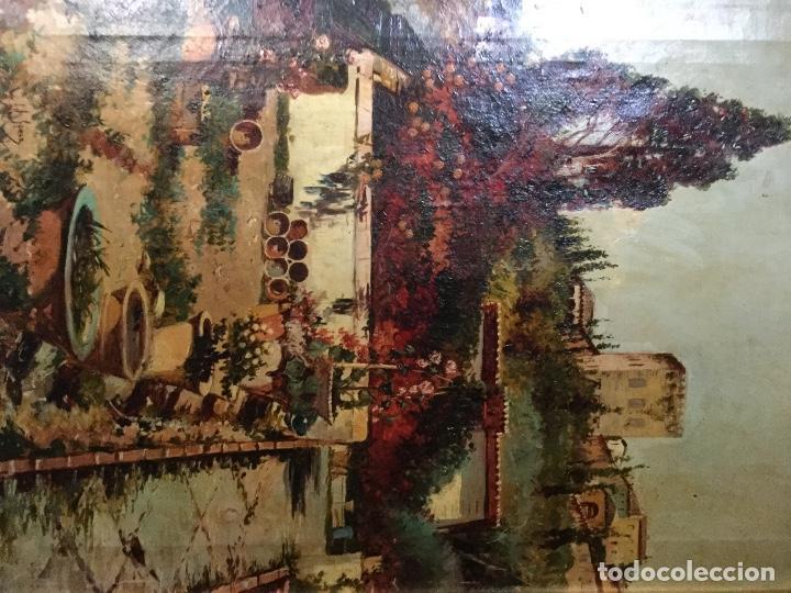 Arte: ANTONIO GOMAR Y GOMAR (1853-1911)Óleo de temática paisajística con escena del Albaicín - Foto 7 - 142776110