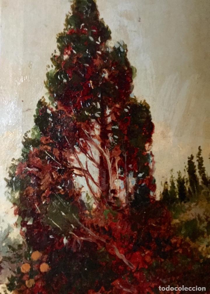 Arte: ANTONIO GOMAR Y GOMAR (1853-1911)Óleo de temática paisajística con escena del Albaicín - Foto 10 - 142776110