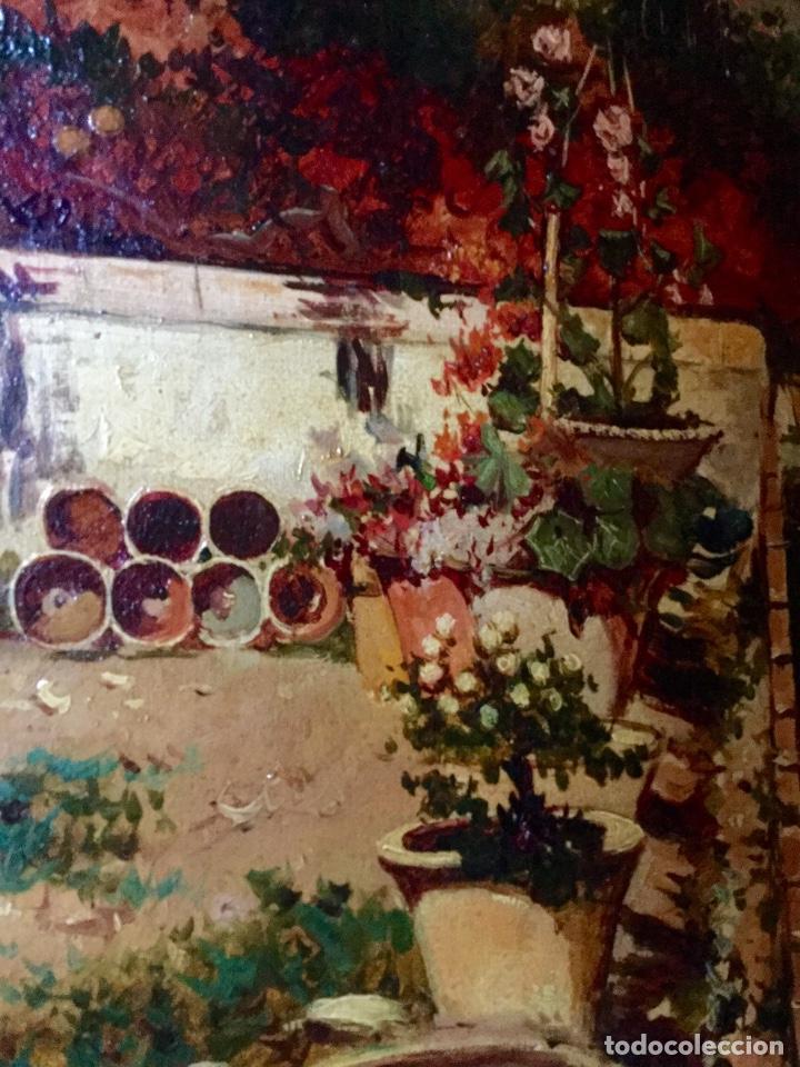 Arte: ANTONIO GOMAR Y GOMAR (1853-1911)Óleo de temática paisajística con escena del Albaicín - Foto 11 - 142776110