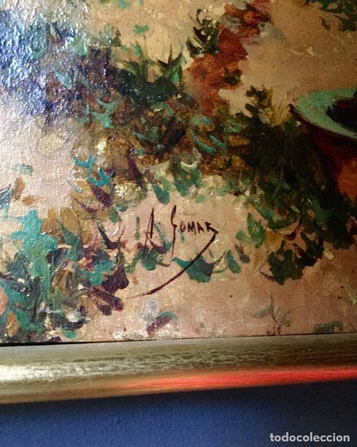 Arte: ANTONIO GOMAR Y GOMAR (1853-1911)Óleo de temática paisajística con escena del Albaicín - Foto 12 - 142776110