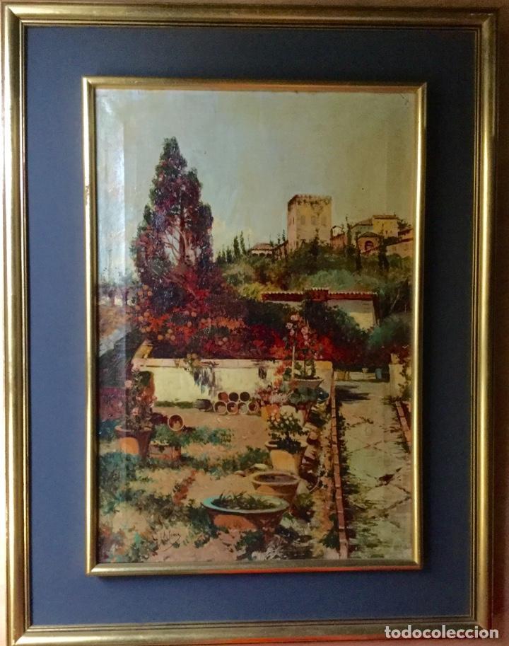 Arte: ANTONIO GOMAR Y GOMAR (1853-1911)Óleo de temática paisajística con escena del Albaicín - Foto 13 - 142776110