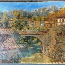 Arte: JOSÉ BUENO-DIAZ (1915-?) PINTOR ESPAÑOL - ÓLEO SOBRE TELA - PAISAJE. Lote 142810714