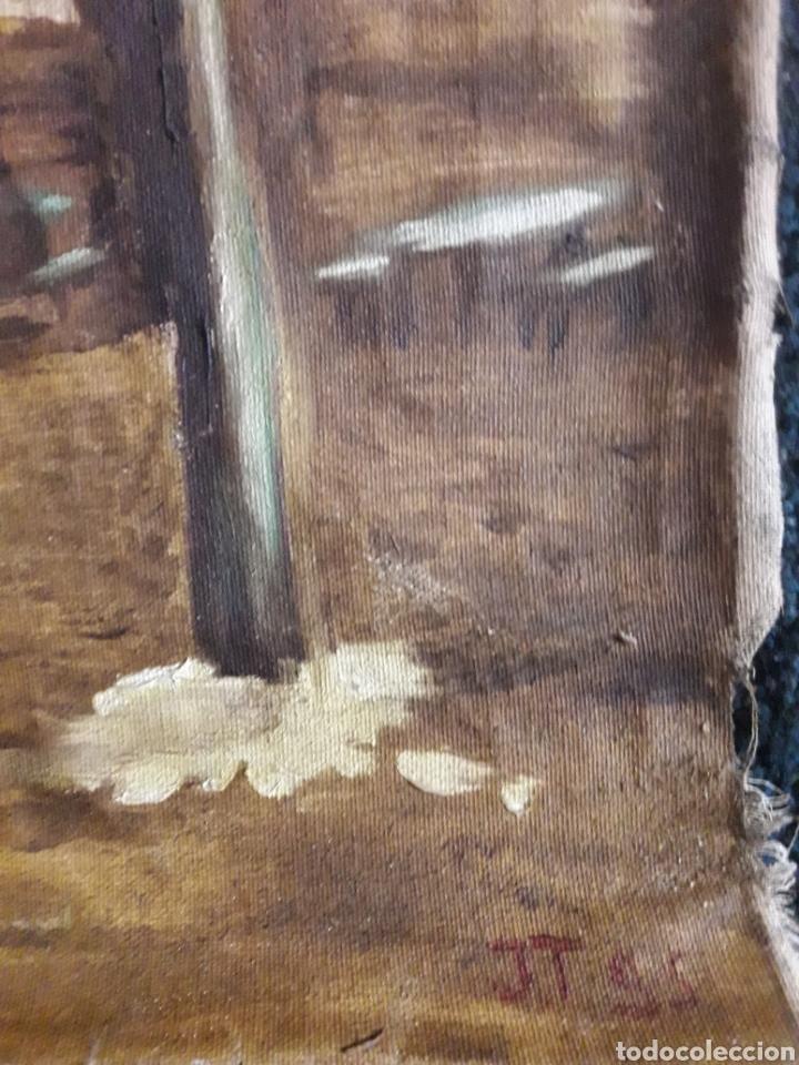 Arte: Óleo sobre lienzo sin bastidor. Firmado J T 95 . - Foto 3 - 142845661