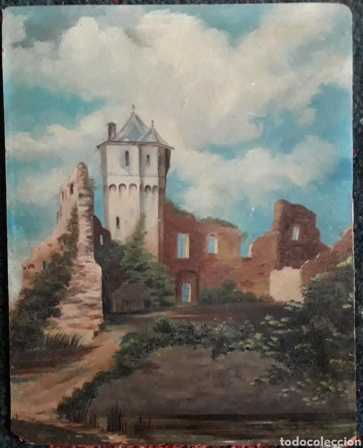 PINTURA ROMÁNTICA SOBRE CARTÓN. SIGLO XIX. SIN FIRMAR. (Arte - Pintura - Pintura al Óleo Moderna siglo XIX)