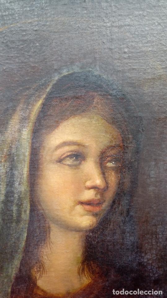 Arte: ÓLEO S/LIENZO -VIRGEN SOLEDAD-. ENMARCADO DE ÉPOCA. 96.5X76 CMS. ESCUELA ITALIANA FINALES S. XVIII. - Foto 2 - 142927526