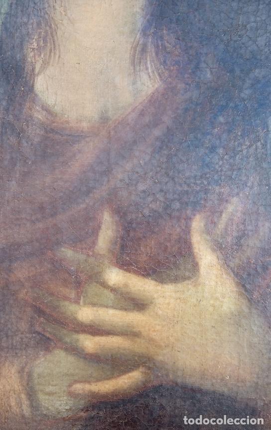 Arte: ÓLEO S/LIENZO -VIRGEN SOLEDAD-. ENMARCADO DE ÉPOCA. 96.5X76 CMS. ESCUELA ITALIANA FINALES S. XVIII. - Foto 3 - 142927526