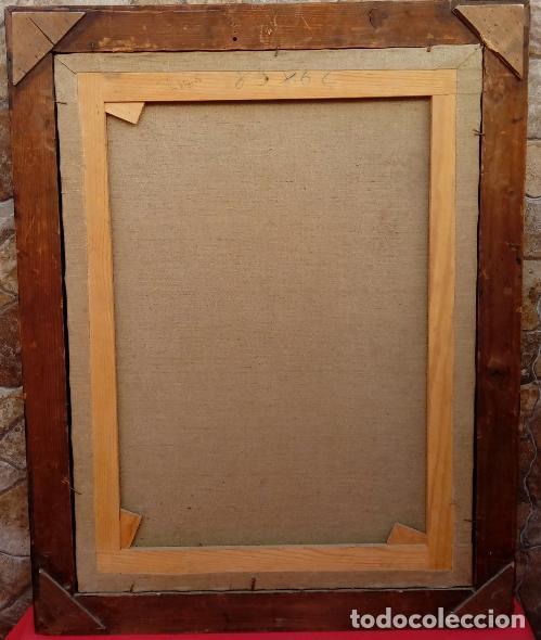 Arte: ÓLEO S/LIENZO -VIRGEN SOLEDAD-. ENMARCADO DE ÉPOCA. 96.5X76 CMS. ESCUELA ITALIANA FINALES S. XVIII. - Foto 5 - 142927526
