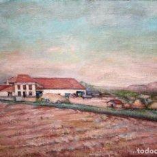 Arte: ANTONIO SANCHEZ CORRALIZA (BADAJOZ, 1909 - BARCELONA, 2000) OLEO SOBRE TELA. PAISAJE. Lote 143000318