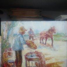 Arte: CUADRO RURAL (ORIGINAL GRAN COLORIDO). Lote 143049029