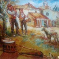 Arte: CUADRO RURAL (GRAN COLORIDO E ILUMINACIÓN). Lote 143049593