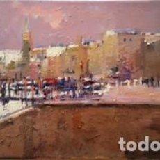 Arte: PINTURA OLEO SOBRE TELA - PORT - DE JOSEP MARFA GUARRO - BARCELONA - Nº1 C -. Lote 143060166