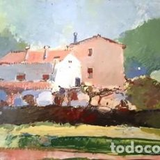 Arte: PINTURA OLEO SOBRE CARTON - VALLROMANAS - DE JOSEP MARFA GUARRO - BARCELONA - Nº1 C -. Lote 143113478