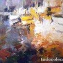 Arte: PINTURA OLEO SOBRE MADERA - PORT - DE JOSEP MARFA GUARRO - BARCELONA - Nº1 C -. Lote 143114970