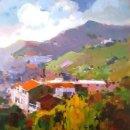Arte: PINTURA OLEO SOBRE MADERA - PRADELL - DE JOSEP MARFA GUARRO - BARCELONA - Nº1 C -. Lote 143117550