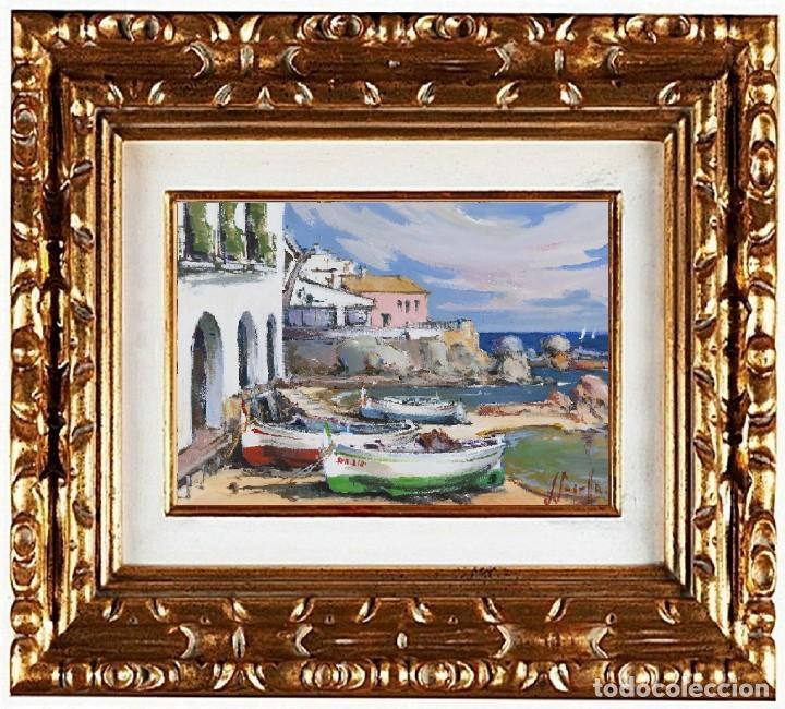 JOAN SARQUELLA OLIVERAS (1956). CALELLA DE PALAFRUGELL, ÓLEO (Arte - Pintura - Pintura al Óleo Contemporánea )