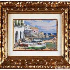 Arte: JOAN SARQUELLA OLIVERAS (1956). CALELLA DE PALAFRUGELL, ÓLEO. Lote 143147638