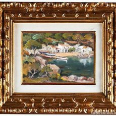 Arte: JOAN SARQUELLA OLIVERAS (1956). PLAYA DE BEGUR, ÓLEO. Lote 143147846