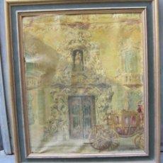 Arte: MANUEL MORENO GIMENO, PALACIO DEL MARQUÉS DE DOS AGUAS, 1923, VALENCIA, ÓLEO SOBRE LIENZO. 60X52CM. Lote 143152358