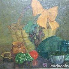 Arte: OLEO-TELA BODEGON FDO. CERISI 1948. Lote 143163430