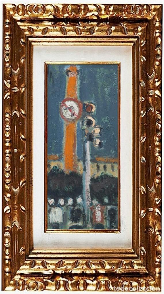 JORDI CURÓS VENTURA (OLOT 1930-2017), SIN TITULO, ÓLEO SOBRE TABLEX (Arte - Pintura - Pintura al Óleo Contemporánea )