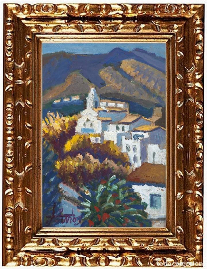 JORDI CURÓS VENTURA (OLOT 1930-2017), MIMOSA A CADAQUÉS, ÓLEO SOBRE TABLEX (Arte - Pintura - Pintura al Óleo Contemporánea )